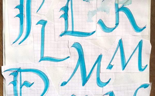 Marianne Ryan's hand lettering