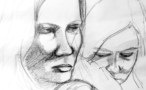 Marianne Ryan female face drawing